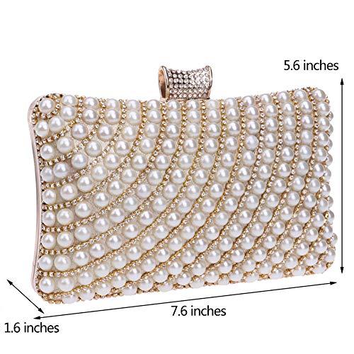 Womens Bags Elegant Gold Wallet For Party Purse Evening Handbags Chain Clutches wtqaq5r