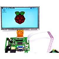 Makerfire 7-Inch. Raspberry Pi LCD Display Screen TFT Monitor with HDMI VGA Input Driver Board Controller DIY