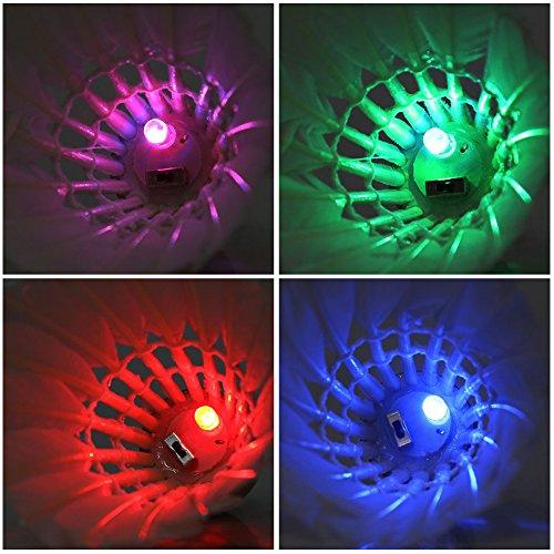 4Pcs Colorful LED Shuttlecock Badminton - 4