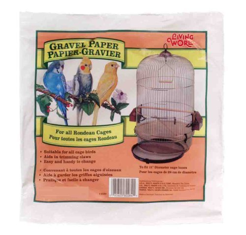 Living World Gravel Paper, Round 11 Inches (8/Pack) by Living World