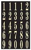 "Hy-Ko MM-3N Self-Stick Numbers, 2"", Black/Gold (2 Pack)"