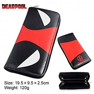Deadpool Anime largo cartera monedero bolsa de lápiz: Amazon ...