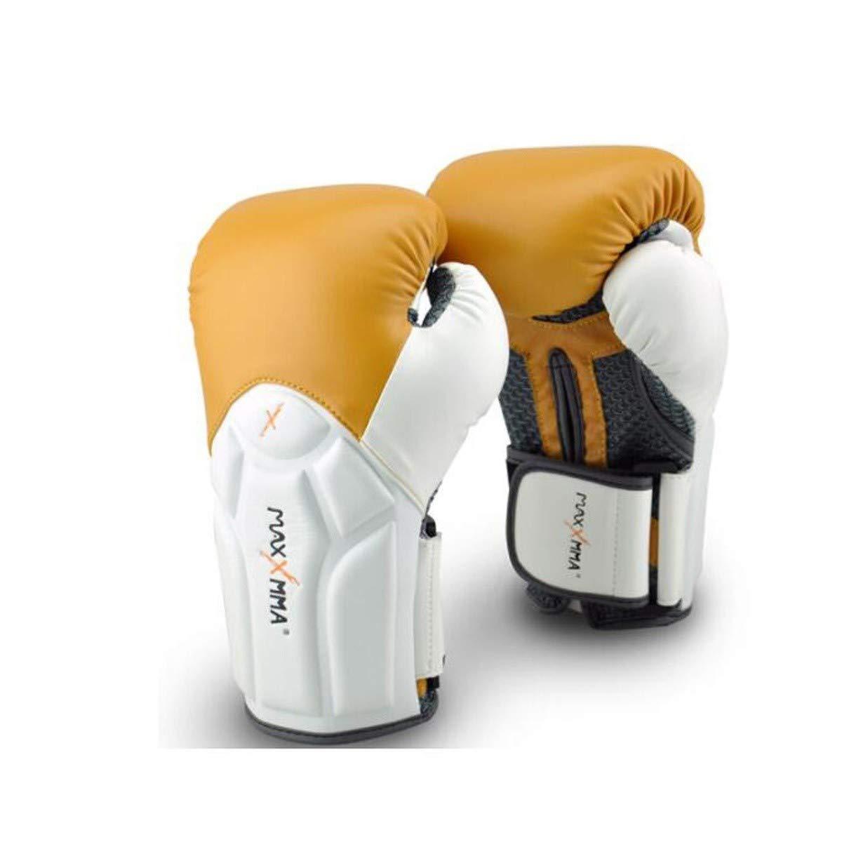 LHSY ボクシング手首の手袋手袋ファッションファイティングフィットネストレーニングムエタイ三田市武道 (Color : Camel color, Size : 14oz) Camel color 14oz