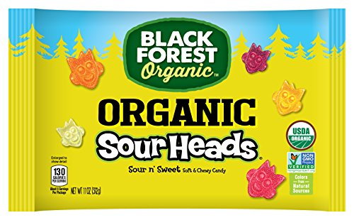 Black Forest Organic, Sour Heads Gummy Candy, 11 Ounce