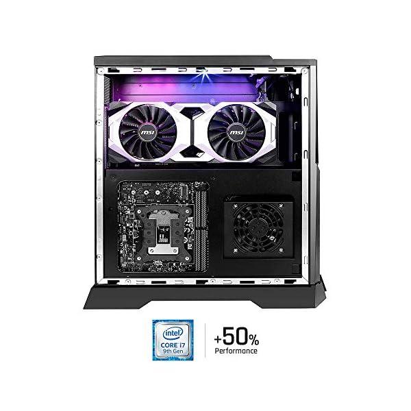 MSI Trident X Plus 9SD-042US High-End Small Form Factor PC Intel Core i7-9700K RTX 2070 Armor 8G OC 16GB 512GB PCIe NVME SSD,Black 3