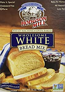 Hodgson Mill Wholesome White Bread Mix, 16-Ounce Boxes (Pack of 6)
