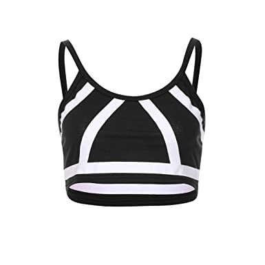30cef5459 Amazon.com  Oksale Women Sleeveless Crop Print Top Vest Tank Shirt ...