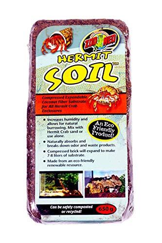 Brick Husk Coconut (Zoo Med Hermit Soil Coconut Fiber Brick 600g)