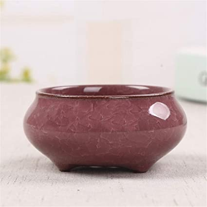 Amazoncom Stoneware Retro Burned Purple Sand Plastic Bowl Shaped