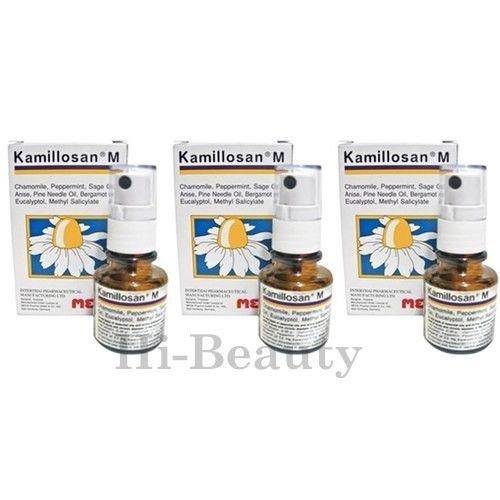 3 X Kamillosan M Spray (Anti Bacteria Sore Throat & Tonsil) USA