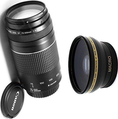 Canon 75 – 300 mm IIIズームレンズ+高広角補助レンズ   B01HU86AS0