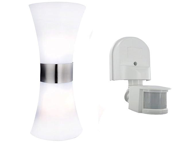 Juego de luces exteriores con detector de movimiento y LED Bombillas