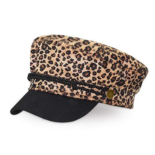 Vintage Woolen Leopard Print Casual Hat Women Cap Female Casual Baseball Hats Fashion Accessories Military - Leopard Vintage Hat