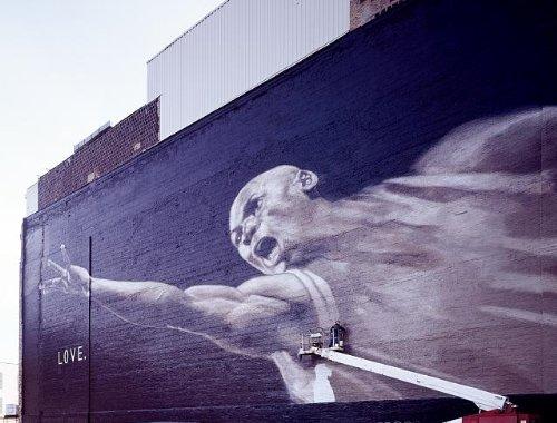 HistoricalFindings Photo: Photo of Mural,Chicago Bulls Basketball Legend,Michael Jordan,Chicago,Illinois