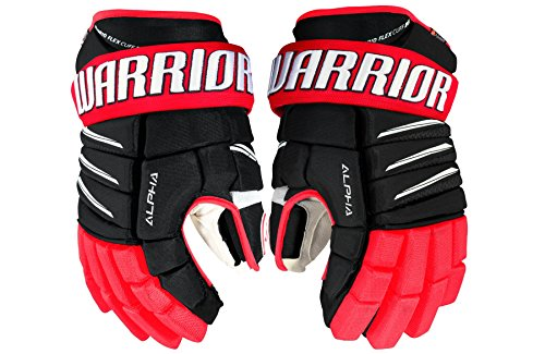 WARRIOR Senior Alpha Qi Pro Gloves, Size 14, Black/Red/White -