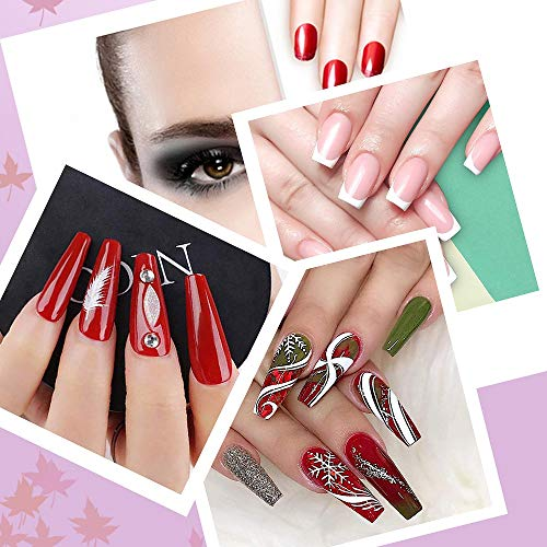 150 Pcs Clear Nail Swatch Sticks with Ring, Fan Shape Nail Art Polish Display Tips, False Nail Sample Sticks, Nail Practice Color Display, Transparent Polish Board for Nail