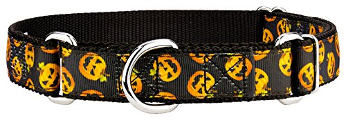 Country Brook Design Happy Jack Ribbon Martingale Dog Collar - Small