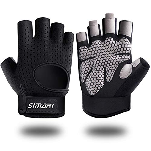 SIMARI Workout Gloves Weight Lifting Gym Gloves with Wrist Wrap Support for Men Women, Full Palm Protection, for Weightlifting, Training, Fitness,Exercise Hanging, Pull ups, Upgraded 2021 SG907