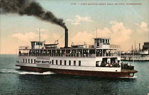 West Seattle Ferry Boat, Seattle Seattle, Washington Original Vintage Postcard