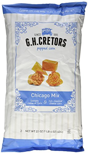 G.H. Cretors Popcorn Chicago Mix, 22 ounce bag (1 lb (Caramel Popcorn Bag)