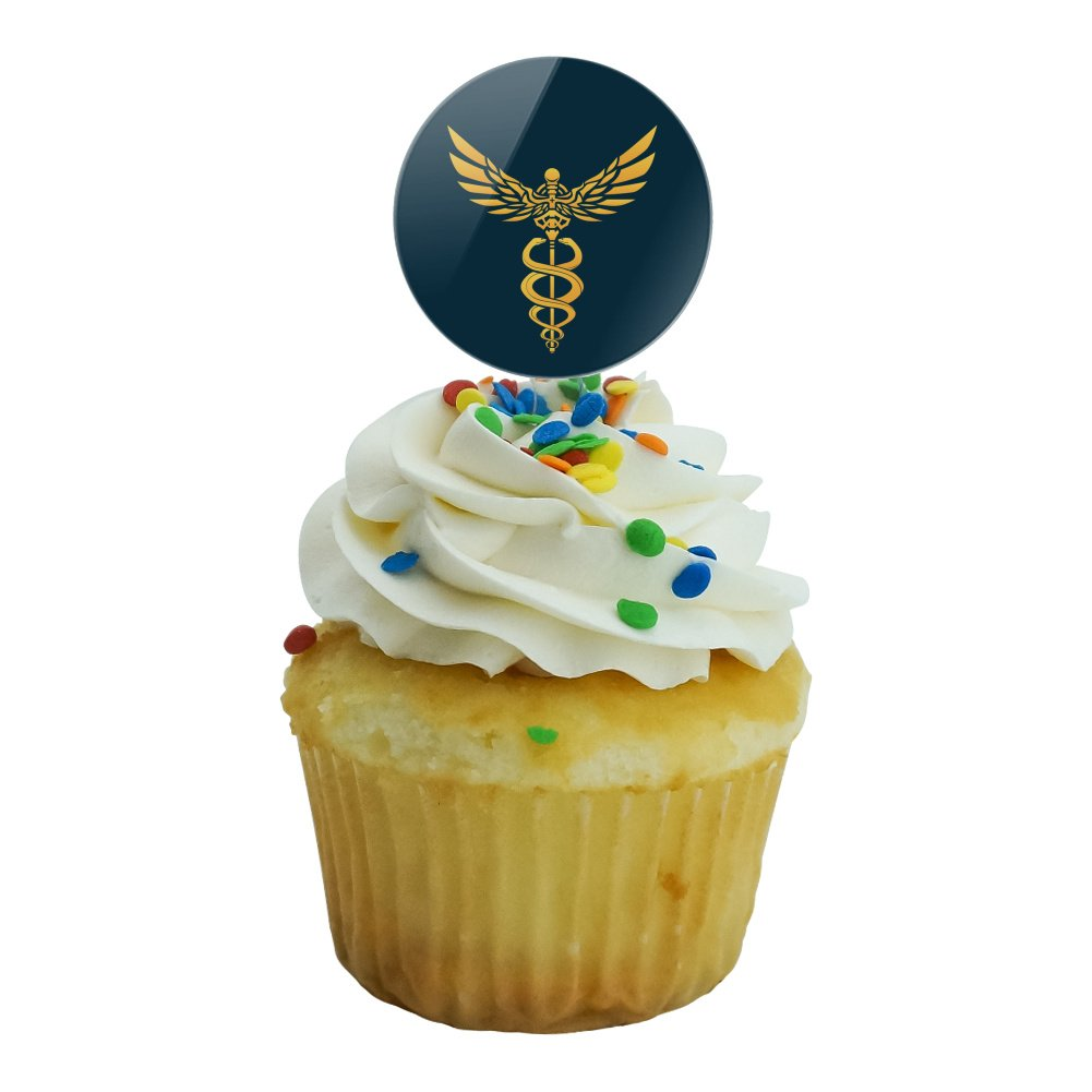 Amazon.com: Caduceus Medical Symbol Doctor Nurse EMT Cupcake Picks ...
