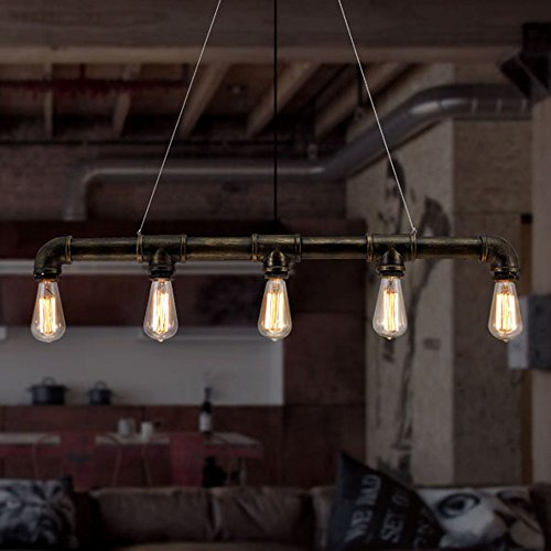 Ladiqi industrial chandelier ceiling light rustic lighting vintage ladiqi industrial chandelier ceiling light rustic lighting vintage chandeliers mozeypictures Image collections
