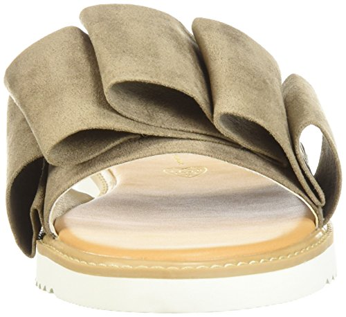 planas de Footwear Sandalias edades para todas las mujer Taupe BC OcF1ad