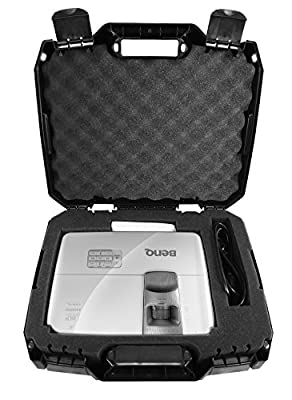 Protective Video Projector Travel Hard Case with Customizable Foam - Fits BenQ , iRulu BL-20 2600 , JmGO Mstar G1 DLP, WXGA, 1080p and 3D Projectors - Models MP626 / HT1075 / W1070 / HT1085ST and more