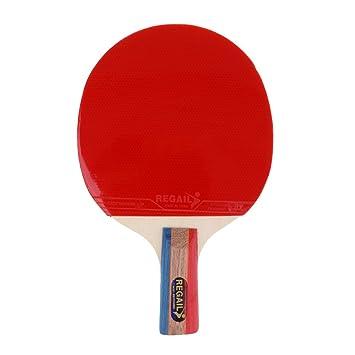 perfk Tenis De Mesa Ligeros Ping Pong Mango Corto Penhold Grip Raqueta Paddle Bat con Funda: Amazon.es: Deportes y aire libre