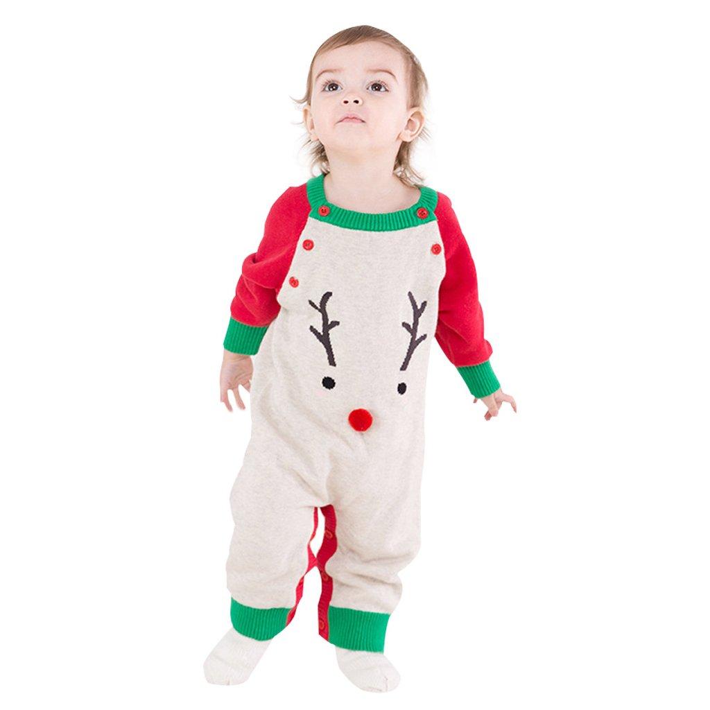 Vine Baby Romper Knitted Sweater Christmas Sets Kids Santa Claus for 0-24 Months Vine Trading Co. Ltd B170918PF203V