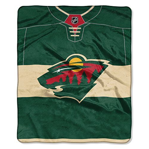 The Northwest Company Officially Licensed NHL Minnesota Wild Pro Jersey Plush Raschel Throw Blanket, 50