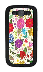 custom samsung galaxy s3 i9300 case, Flower color background diy samsung galaxy s3 i9300 case,TPU Material,Drop Protection,Shock Absorbent