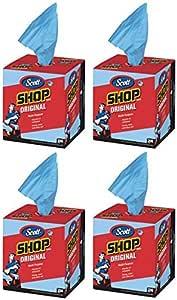 """Scott Kimberly-Clark 75190 Shop Towels, 10"""" x 12"""", Blue (1 Box of 200) (1 Box of 200 Towels (4 Boxes), Blue (4 Boxes))"""
