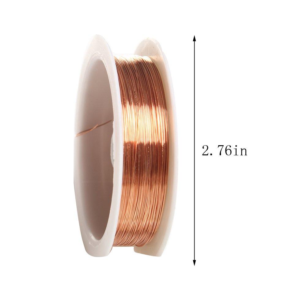 Schmuckdraht, sicai 0,3 mm Bare Kupfer Draht Rolle Jewelry ...