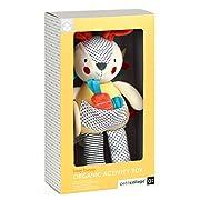 Petit Collage Organic Baby Developmental Soft Toy, Bunny