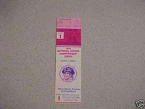 - 1974 PIRATES NLCS game 1 BASEBALL PLAYOFF TICKET STUB