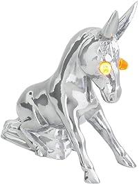 Grand General 48160 Chrome Novelty Donkey Hood Ornament with Illuminated Eyes