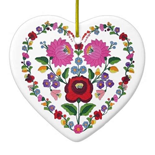 Pattebom Opus Changeable Hungarian Heart TBA Ceramic Christmas Ornaments Novelty for 2018 Christmas Tree Decorations Idea