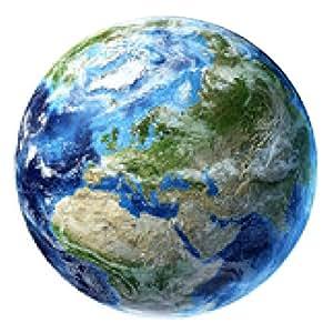 alfombrilla de ratón El planeta tierra con algunas nubes. Europa vista. - ronda - 20cm