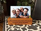 Qualtry Personalized Woodblock Photo Holder, Beautiful Wooded Picture Stands – Personalized Wedding Gifts for Couples (Harris Design, Cherry Wood) Review