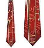 Trombone and Notes tie Mens Necktie by Three Rooker
