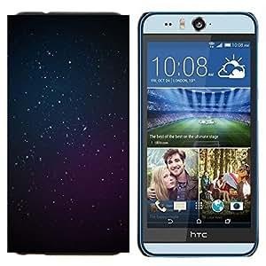 TECHCASE---Cubierta de la caja de protección para la piel dura ** HTC Desire Eye ( M910x ) ** --cosmos púrpura azules estrellas del espacio profundo