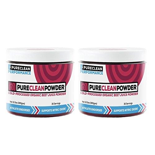 PureClean Powder – 100 USA Grown Organic Beet Juice Powder – No Fillers, Sweeteners, or Additives PCP Jar 2pk