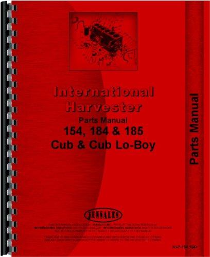 (International Harvester Cub 185 Lo-Boy Tractor Parts Manual (1974-1976) )