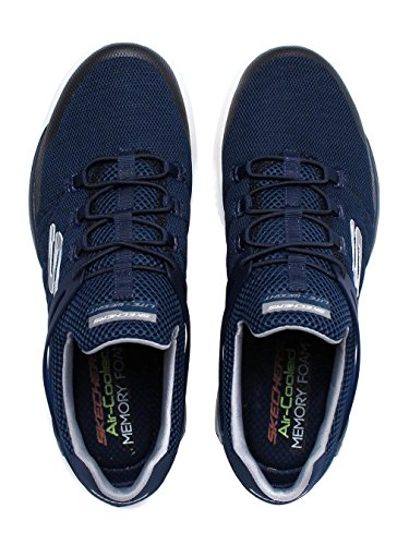 Skechers Mens Matrixx Kingdon Athletic Casual Slip On Sport Trainers Navy/Grey