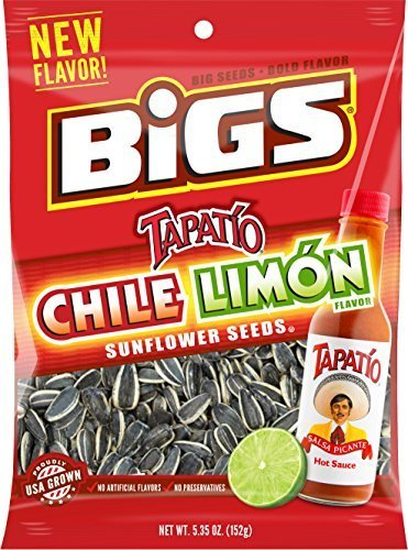 BIGS Chile Limon Sunflower Seeds, 5.35-ounce Bag (Pack of 3) ()