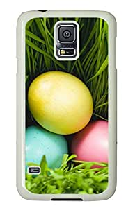 Samsung Galaxy S5 Cases & Covers - Three Eggs And Grass PC Custom Soft Case Cover Protector for Samsung Galaxy S5 - White