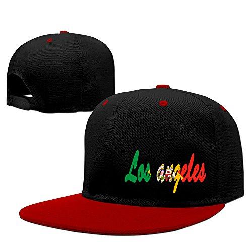 Los Angeles Text With City Flag Hip Hop Baseball Caps Hats