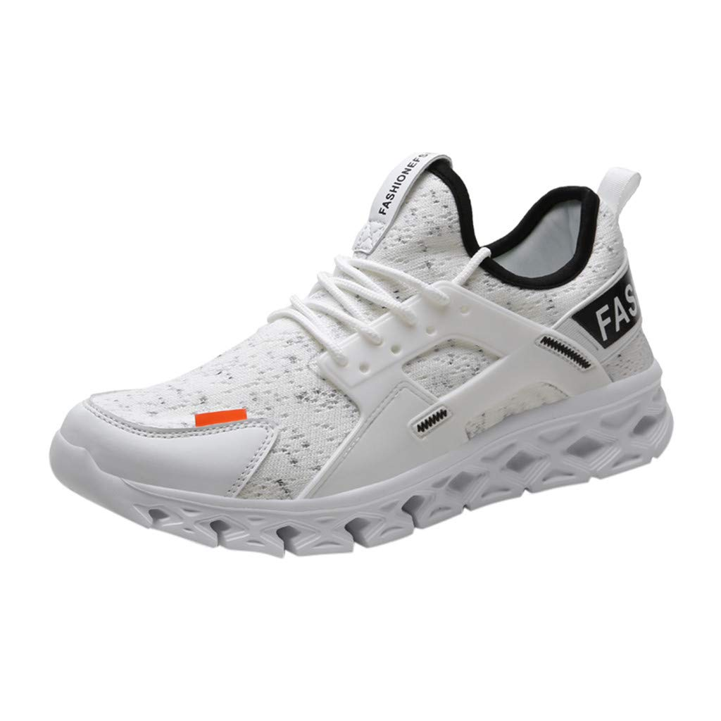 ★QueenBB★ Mens Blade Wave Walking Shoes Mesh Breathable Athletic Running Gym Sneakers Tennis Shoe White