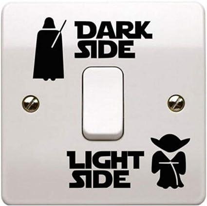1 Pc Interrupteur Autocollants Star Wars Dark Light Stickers Muraux Fluorescent Star Wars Papier Peint Pour Chambre Denfant